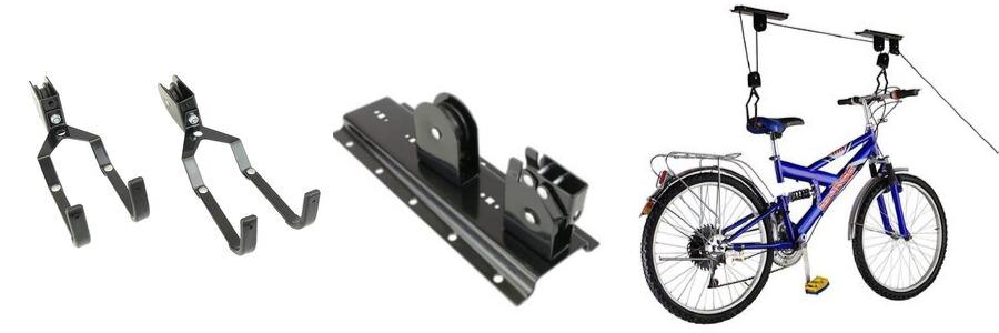 Relaxdays Colgador Bicicleta Techo Negro Metal hasta 45 kg
