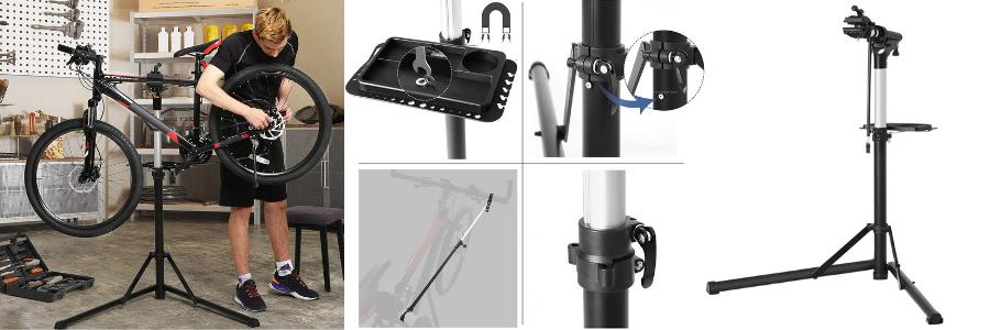 soporte reparacion bicicleta lidl, caballete bicicleta decathlon
